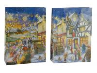 Lackpapiertüten Tragetaschen Weihnachtsdorf individuell